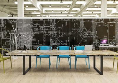 Duży stół konferencyjny z drewna - meble na zamówienie