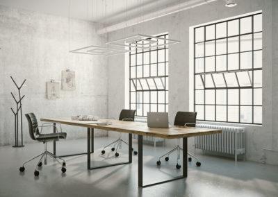 Stół z drewna litego - mebel do sali konferencyjnej wykonany na zamówienie