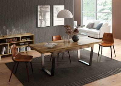 Stół rozkładany Classic - stol - nogi V - komoda B pop