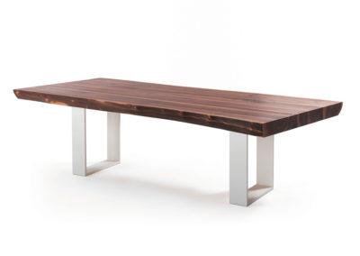 Elegancki stół do jadalni - drewno orzechowe.
