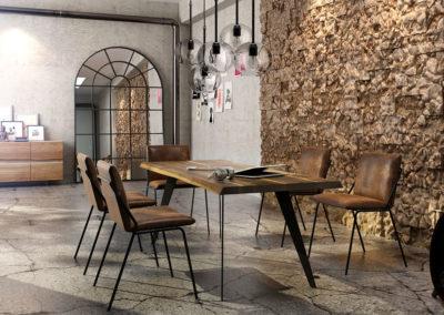 Stół drewniany do jadalni i do biura na zamówienie