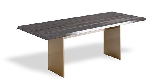 Stół NATT - połączenie drewna i metalu