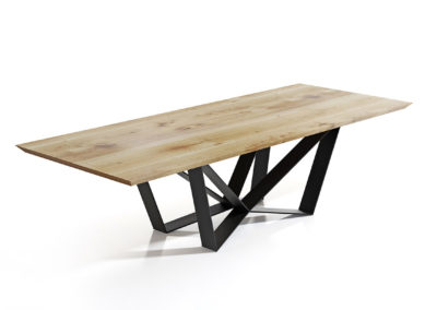Stół Edder - piękny drewniany blat i nogi jak pająk