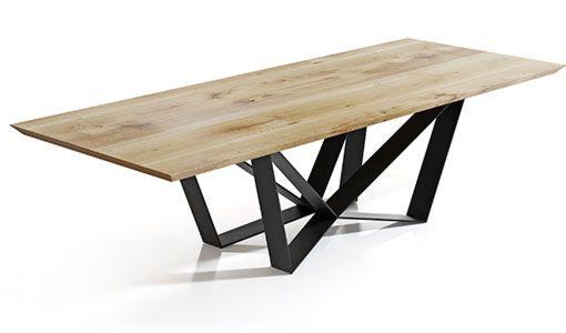 Stół Edder piękny drewniany blat, unikalny Design do jadalni
