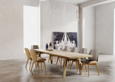 Stoły Collier solidne i masywne stoły design modern