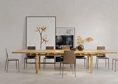 Stół Torii - solidna konstrukcja litego drewna