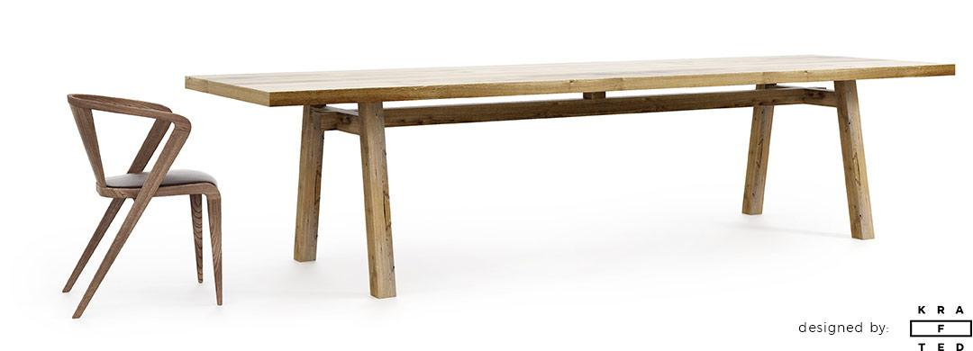 Piękny stół w stylu japońskim i skandynawskim
