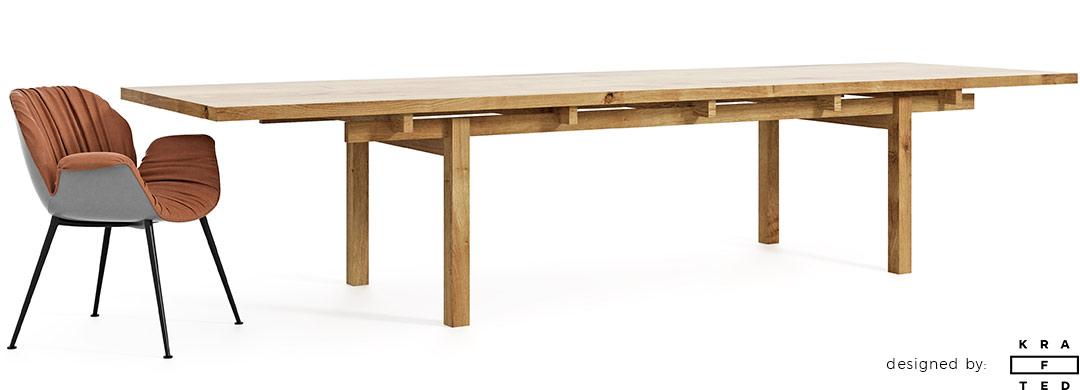 Piękny stół w japońskim stylu