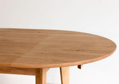 stół SLIG rozkładany stół z drewna rozłożony