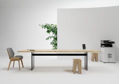 Inspiracja minimalistycznym wnetrzem ze stolem Natt