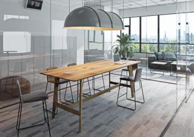 Nowoczesne biuro z biurkiem z kolekcji Ren Color