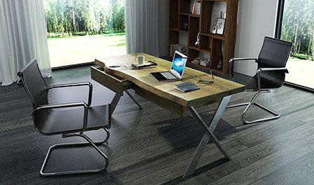 Biurka z solidnego prawdziwego drewna