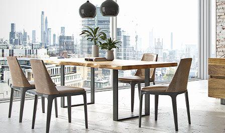 Stół avagnard - drewno i metal