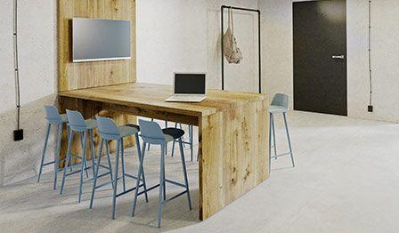 Minimalistyczne stół z naturalnego drewna
