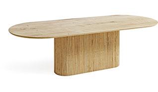Stół Kalisto noga w stylu filaru greckiego