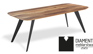 Minimalistyczny dębowy stół zarówno do jadalni jak i ozdoba pokoju