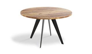 Okrągły stół dębowy do jadalni jak i piękna ozdoba pokoju