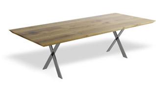 Stół rozkładany do jadalni, blat z litego drewna z dostawkami