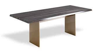 Masywny stół drewniany z wcięciem - NATT