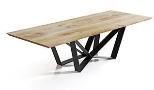 Drewniany stół do jadalni EDDER - ręcznie robione nogi pająk