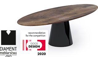 Stół MONO - oryginalna metalowa podstawa i drewniany blat